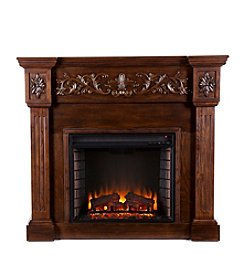 Southern Enterprises Norton Carved Electric Fireplace