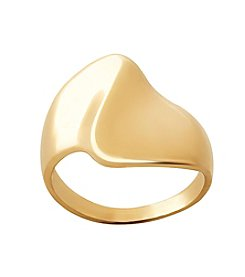 14K Yellow Gold Polished Freeform Ring