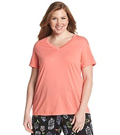 HUE® Plus Size V-Neck Sleep Tee