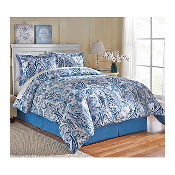 LivingQuarters Beth Paisley 4-pc. Comforter Set