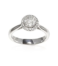 0.37 ct. t.w. Diamond Cluster Ring in 10K White Gold