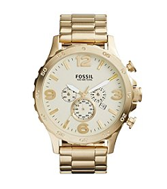 Fossil® Men's Nate Champagne Dial Watch