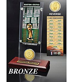 NBA® Boston Celtics 17-Time NBA Champions Ticket and Bronze Coin Desktop Acrylic