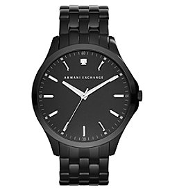A|X Armani Exchange Men's Black IP Watch with Black Dial