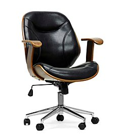 Baxton Studios Rathburn Walnut and Black Modern Office Chair