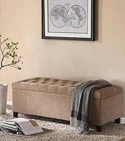 Madison Park Shandra Bench Storage Ottoman with Tufted Top