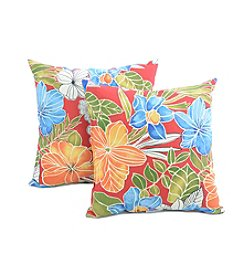Greendale Home Fashions Set of Two Aloha in Red Outdoor Accent Pillows