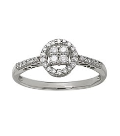 0.25 ct. t.w. Cluster Diamond Ring in 10K White Gold