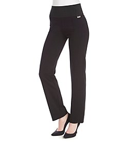 Calvin Klein Wide Waist Straight Leg Pants