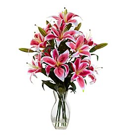 Nearly Natural® Rubrum Lily Arrangement