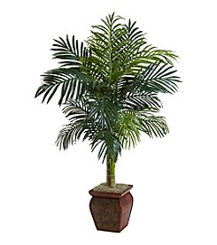 Nearly Natural® 4.5' Golden Cane Palm with Decorative Container
