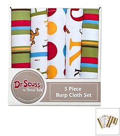 Trend Lab 5-Pack Dr. Seuss ABC Burp Cloth Bundle Box Set