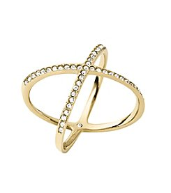 Michael Kors® Goldtone X Ring
