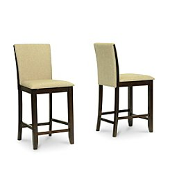 Baxton Studios Everdon Dark Brown Modern Set of 2 Pub Chairs