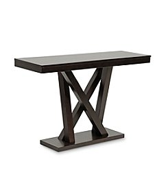 Baxton Studios Everdon Dark Brown Modern Console Table