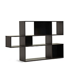 Baxton Studios Lanahan Dark Brown 3-Level Modern Display Shelf