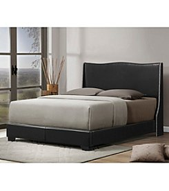 Baxton Studios Duncombe Modern Queen Size Bed with Upholstered Headboard