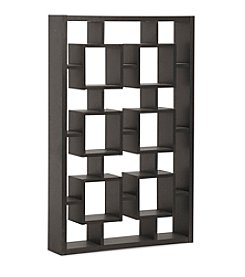 Baxton Studios Eyer Dark Brown Modern Display Shelf