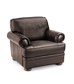 Chateau D'Ax Malone Rollarm Brown Leather Chair