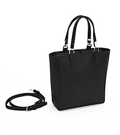 Royce Leather Rfid Blocking Saffiano Mini Tote Cross Body Bag