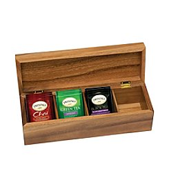 Lipper International Acacia 4-Section Tea Box