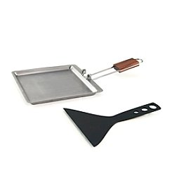 Charcoal Companion® Stainless Raclette Pan with Scraper