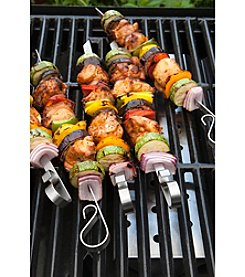 Charcoal Companion® Set of 6 Stainless Steel Flat Skewers