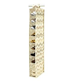The Macbeth Collection® Textured Chevron 10-Shelf Shoe Organizer