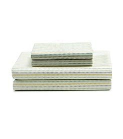 LivingQuarters Stripe Cool Touch Select Percale Sheet Set