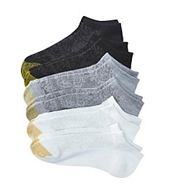 GOLD TOE® Women's 6-Pack Floral Sport No Show Socks
