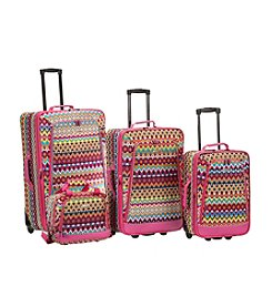 Rockland 4-pc. Tribal Luggage Set