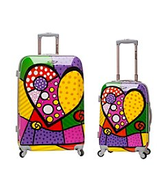 Rockland 2-pc. Heart ABS Upright Luggage Set