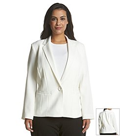Kasper® Plus Size Notch Collar Blazer