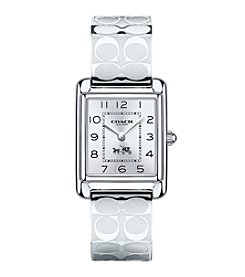 COACH WOMEN'S 24mm PAGE STAINLESS STEEL BANGLE WATCH