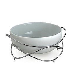 Towle® Living Ceramic Salad Serving Bowl with Metal Stand
