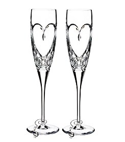 Waterford® True Love Set of 2 Champagne Flutes