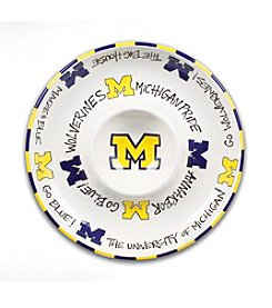 NCAA® University of Michigan Circle Chip n' Dip Plate