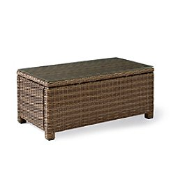 Crosley Furniture Bradenton Outdoor Wicker Glass Top Table