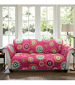 Lush Decor Adrianne Fuchsia Loveseat or Sofa Slipcover