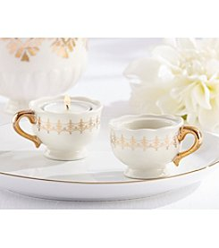 Kate Aspen Set of 12 Classic Gold Teacups Tea Light Holders
