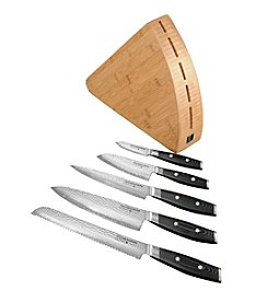 Yaxell® Tsuchimon 6-pc. Knife Block Set