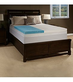 Future Foam™ Enhance Gel Memory Foam Mattress Topper with 300-Thread Count Cover