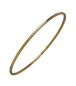 14K Yellow Gold Bangle