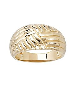 10K Yellow Gold Domed Ring