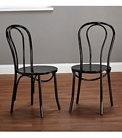 TMS Set of 2 Vintage-Inspired Café Chairs