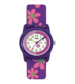 Timex® Kidz Digital Time Teacher Flowers Watch