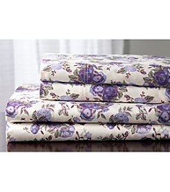 Elite Home Products Rose Garden Sheet Sets