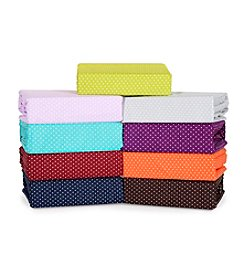 Elite Home Products Grand Dot Microfiber Sheet Sets