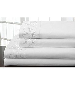 Elite Home Products Hotel Scroll Microfiber Sheet Sets