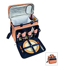 Picnic at Ascot Diamond Collection Picnic Cooler for Four